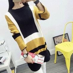 Knitemps - Color Block Sweater Dress