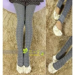 Little Flower - Cable Knit Tights