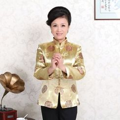 Golden Flowers - Chinese Style Button Jacket / Chinese Style Button Jacket