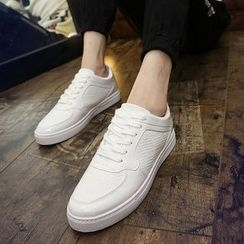 Preppy Boys - Lace-Up Panel Sneakers