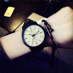 Honey Bee - Genuine Leather Strap Watch