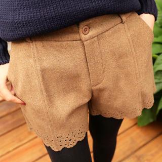 Tokyo Fashion - Perforated Hem Shorts