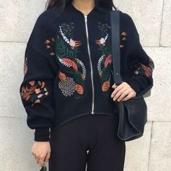 Cloud Nine - Embroidered Zip Jacket