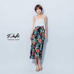 PUFII - Moack Two-Pieces Maxi Dress