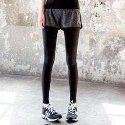 Girasol - Sport Inset Shorts Leggings
