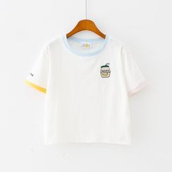 Sunny Day - Short-Sleeve Embroidered T-Shirt
