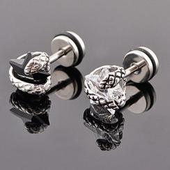 潮野 - 水钻前后式耳环