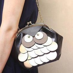 SUOAI - Owl Accent Kiss Lock Crossbody