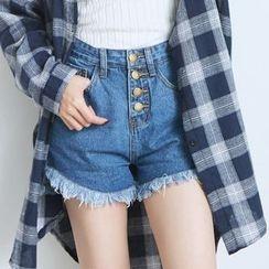 BAIMOMO - 流苏牛仔短裤