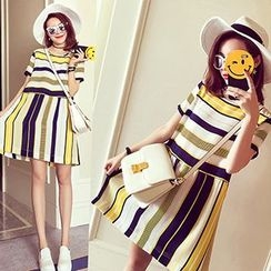 Ashlee - Short-Sleeve Striped Dress