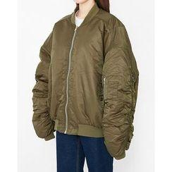 Someday, if - Oversized Zip Padded Jacket
