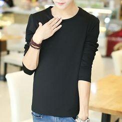 Fusuma - Long-Sleeve Plain T-Shirt
