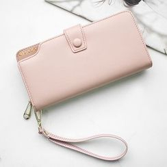 SUOAI - Plain Zip Long Wallet