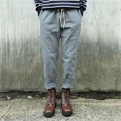 BYMONO - Drawstring-Waist Tapered Pants