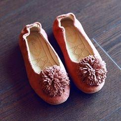 BOOM Kids - 童装流苏花球平跟鞋