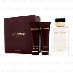 Dolce & Gabbana - Pour Femme Coffret (New Version): Eau De Parfum Spray 100ml/3.3oz + Body Lotion 50ml/1.6oz + Shower Gel 50ml/1.6oz