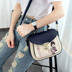 Princess Carousel - Print Top Handle Crossbody Bag