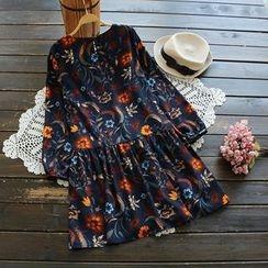 YOYO - Long-Sleeve Floral Dress