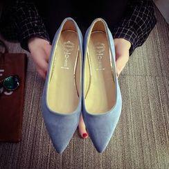 Ginko - 尖頭純色平底鞋