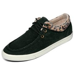 yeswalker - Cheetah Print Trim Canvas Sneakers