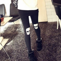 JVL - 骷髅印花内搭裤
