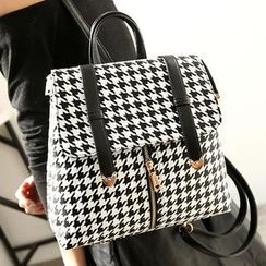 Youshine - Convertible Houndstooth Backpack