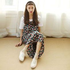 SUYISODA - Floral Print Midi Dress
