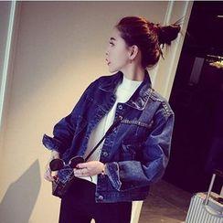 Eva Fashion - Cropped Denim Jacket