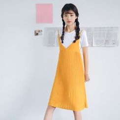 SUYISODA - Pleated Midi Dress
