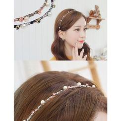 soo n soo - Faux-Pearl Embellished Slim Hair Band