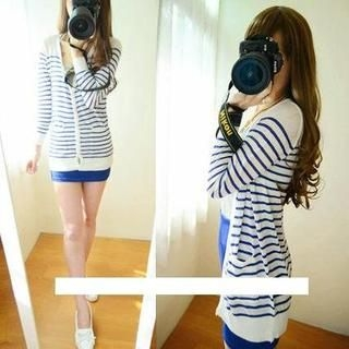 Goodies - Striped Long Knit Cardigan