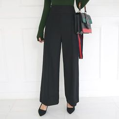 DABAGIRL - Wool Blend Wide-Leg Dress Pants
