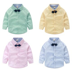 Seashells Kids - Kids Bow Tie Long-Sleeve Shirt