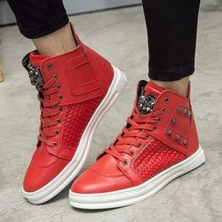 MARTUCCI - Paneled Lace-Up High-Top Sneakers