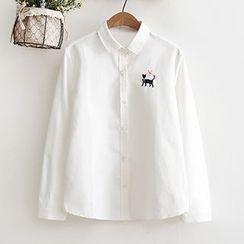 Fashion Street - Cat Long-Sleeve Blouse