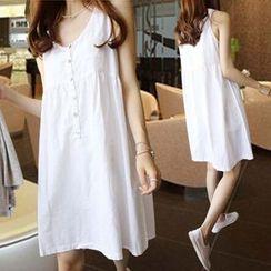 Arroba - Linen Cotton Sleeveless Dress