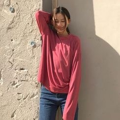 QZ Lady - Long-Sleeve Plain T-Shirt