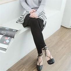 GLAM12 - Inset Stripe Skirt Leggings