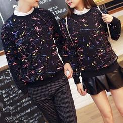 Evzen - Couple Matching Printed Sweatshirt