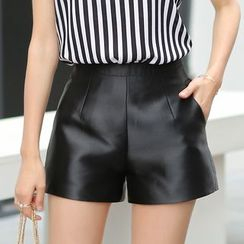 LITI - Faux Leather Shorts