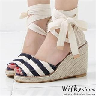 Wifky - Ankle-Strap Wedge Sandals