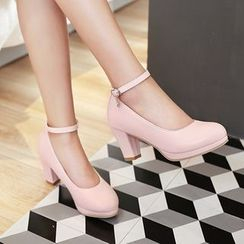 Shoes Galore - High Heel Ankle Strap Pumps
