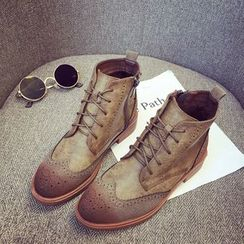 Super ME - Lace-Up Brogue Ankle Boots