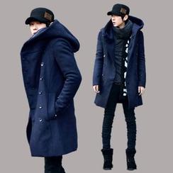 YamYork - 雙排扣連帽大衣
