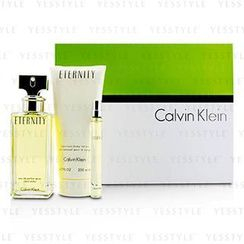 Calvin Klein 卡爾文克來恩 - Eternity Coffret: Eau De Parfum Spray 100ml/3.4oz + Body Lotion 200ml/6.7oz + Eau De Parfum 10ml/0.33oz