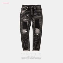 Newin - Washed Straight-Fit Jeans