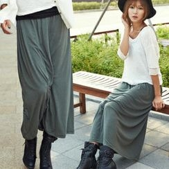 ANNINA - Shirred Maxi Skirt
