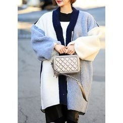 ssongbyssong - Color-Block Faux-Shearling Jacket
