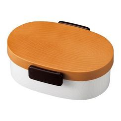 Hakoya - Hakoya Tight Mokume Oval Lunch Box Small (Natural)