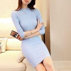 SimplyMe - Long-Sleeve Sheath Knit Dress
